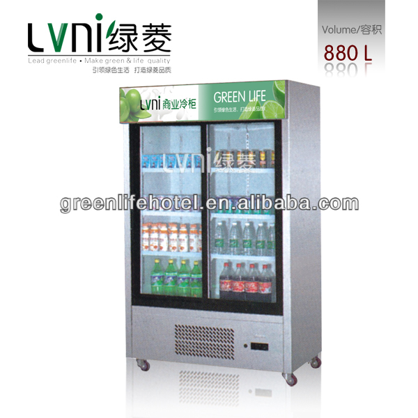 LVNI 8800L beverage cooler/glass door upright display freezer large display Cooler cheap display showcases