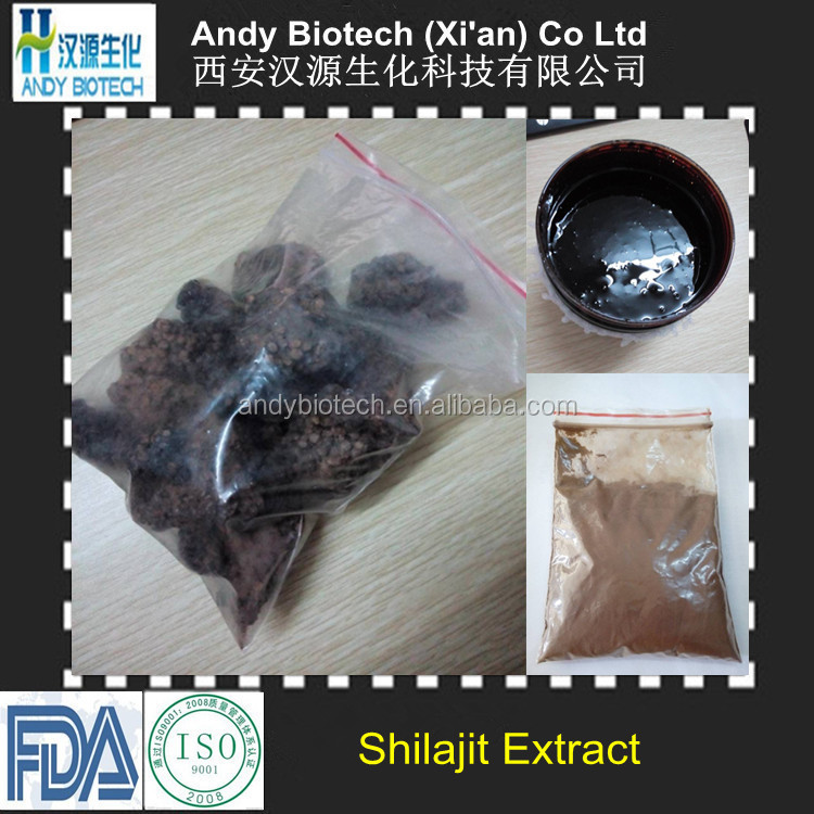 Natural Fulvic acid 55% Mineral Extract Powder from Shilajit Stone
