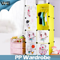 Cartoon door design fish design lovely kids baby plastic wardrobe design
