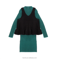 Double-Strap Joint Sweater 2017 Wool Sweater Design For Girl