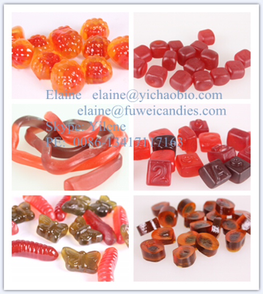 fruity soft gummy jelly candy