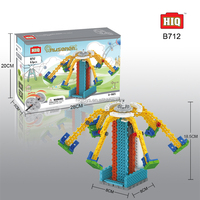 HIQ plastic kids B/O building blocks toy game