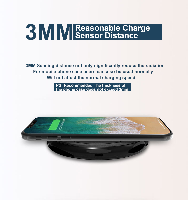 New Design Mobile Phone Qi Wireless Charger Magnetic Charging Pad With Holder