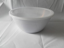 10.25inch melamine round disposable plastic salad bowl with lid