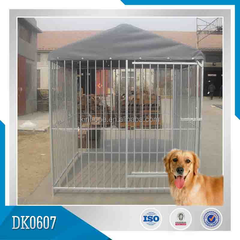 Hot dipped galvanized steel dog kennel house cage