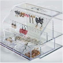 Acrylic Rings Earrings Necklaces Jewelry storage Organizer Drawer box