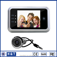 "2015 hot selling dog barking doorbell 3.5"" movement detecting door view With Recording"