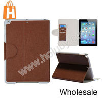 Fashion Magnetic Wallet Case for iPad Air 2 Leather Cover Case, Flip Cover Case for iPad Air 2 with Card Slots