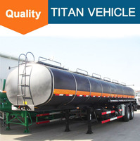 3 Axles insulated heated bitumen transportation tankers semi trailer for sale