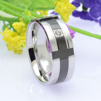 Titanium Wedding Diamond Rings