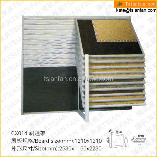 CX014---Recling pull push ceramic tile display unit