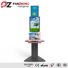 Wireless Mobile Phone Accessories Charger Kiosk Stand with Advertising Player