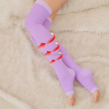 Women's Nylon Stockings Thigh High Socks Open Toe Compression Stockings