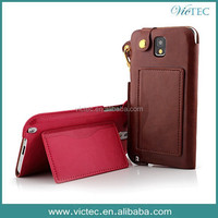 Made in China for Samsung Galaxy Note 3 Lanyard PU Leather Case
