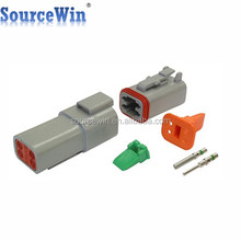 DT04-4P DT06-4S Auto 4 Way Male Female Waterproof DT Deutsch Series Connectors With Crimped Terminals