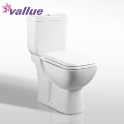 Hot selling modern bathroom commode ceramic washdown european s-trap water closet two piece toilet