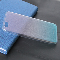 Glitter powder effect transparent tpu mobile phone case cover