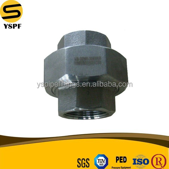 Forged pipe fitting UNION ASTM A105 A182F MSS SP 83 thread connection union