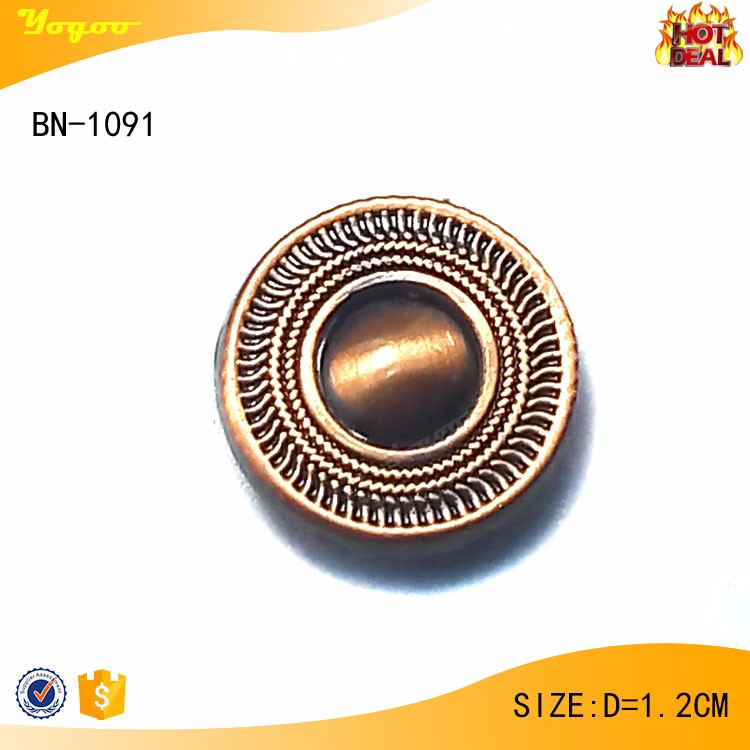 Top Quality Custom Embossing Copper Metal Jeans Button Rivets for Garment