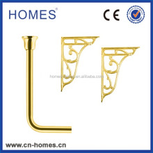 LOW Level Flush Pipe with bracket -Gold plated