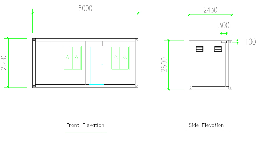 flat pack mobile can disassemble container home