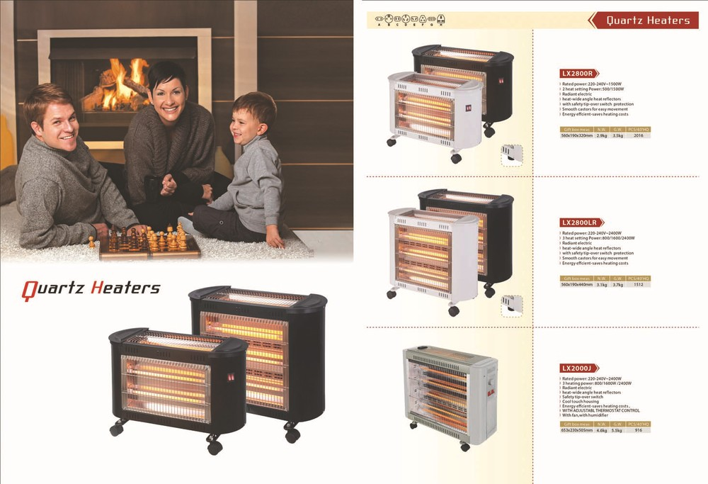 quartz heater 5,000 hours lifespan infrared heater (1000W-3000W) CE Freestanding Installation