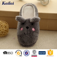 nice grey animal shape soft cotton baby indoor slippers