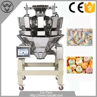 10 head multihead electronic weigher cotton candy weighing machine