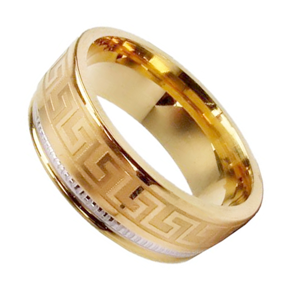 2017 New Design Gold Finger Ring Stainless Steel Engagement Mens Ring