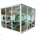 CSA NFRC AS2047 Standard large double glass multi lock aluminum corner sliding door