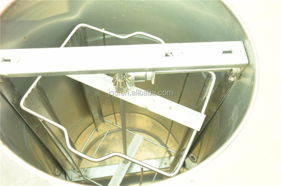 Manual 4 Frame Seamless Stainless Steel Honey Extractor