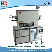 HB-TUBEF-1700C-III-60 1700C Three temperature zones hydrogen vacuum tube furnace lab furnace OD60MM