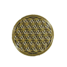 flower of life gold label stickers custom