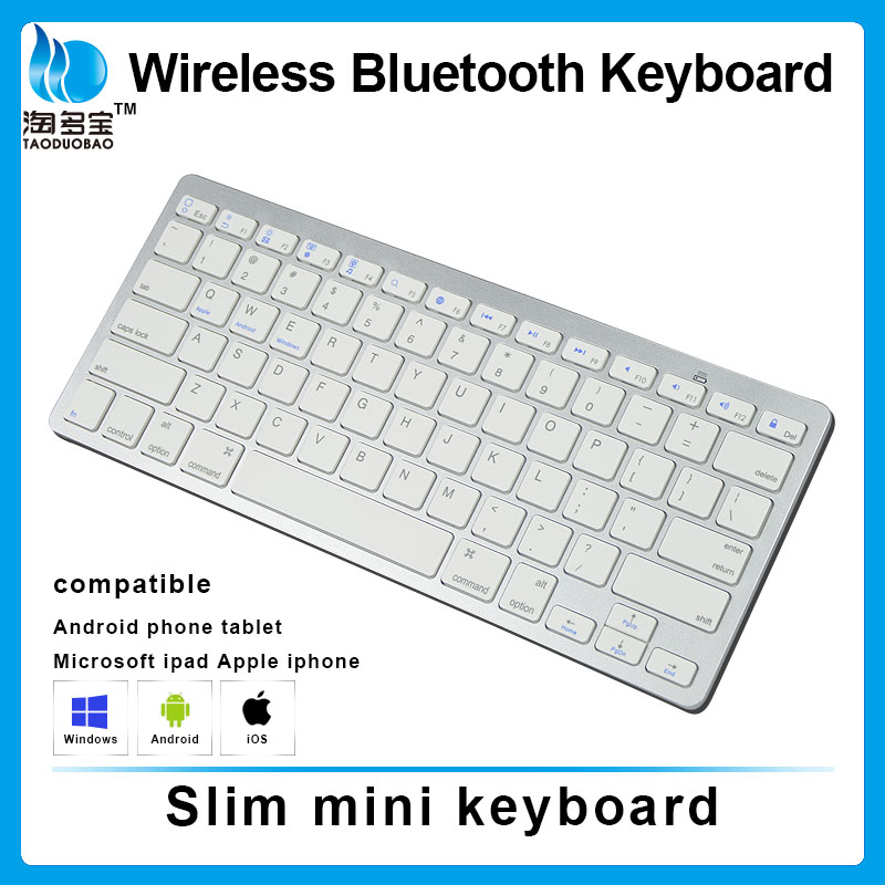 2016 Best selling mini bluetooth wireless keyboard multimedia bluetooth keyboard for Ipad