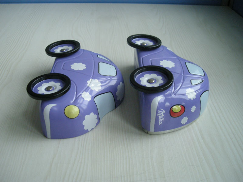 Kids car shaped with lock tin coin bank