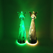 factory directly light up antique glass angel