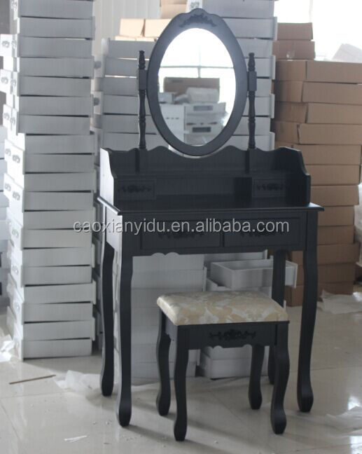 French Style Dressing Table with Mirror and stool