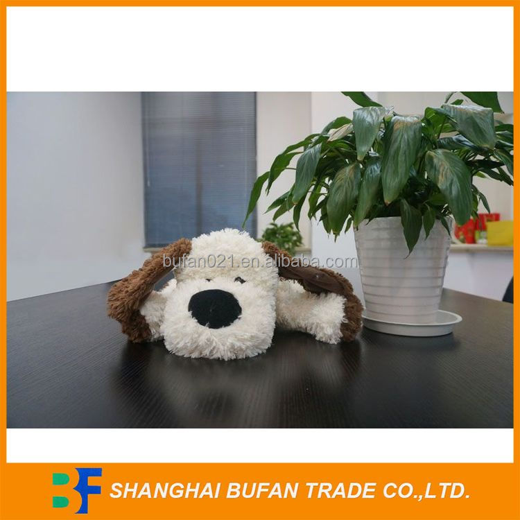 Natural style professional dry soft lifelike plush dog toy