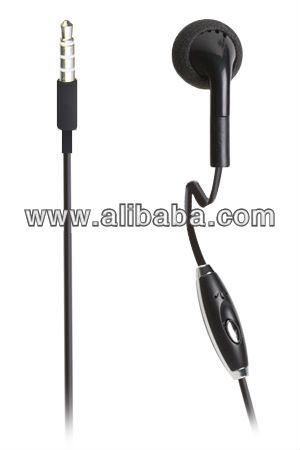 MONO EARPHONES with call answer button for 3,5mm