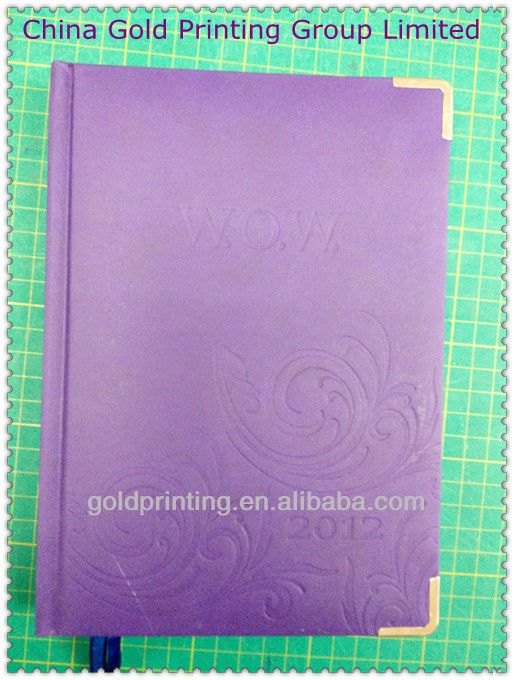 leather cover with metal wrap angel note book