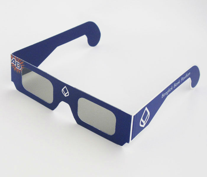 foldable custom logo disposable paper anaglyph 3d glasses
