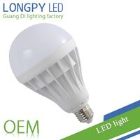 20W LED light E27 in plastic body with factory price LED bulb