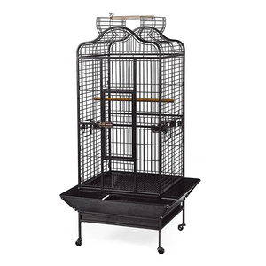 "32"" x 30"" x 61"" Big Play Top Perch Metal Parrot Bird Cages with Stand and Wheels"