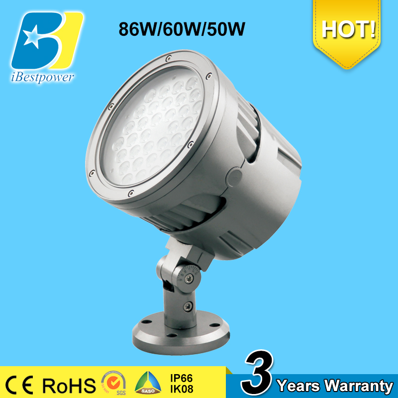 86w 60w 50w landscape forward throw aluminum led flood light fixture