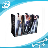 OEM Custom Design Eco-friendly Recycle Green Nonwoven Shopping Bag Foldable Bag Carrier Bag