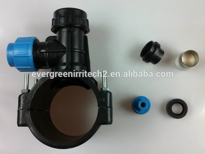 Hdpe pipe clamp saddle with degree tee buy tapping