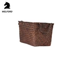 Cheap Natural dark brown chocolate gift wicker basket with handles