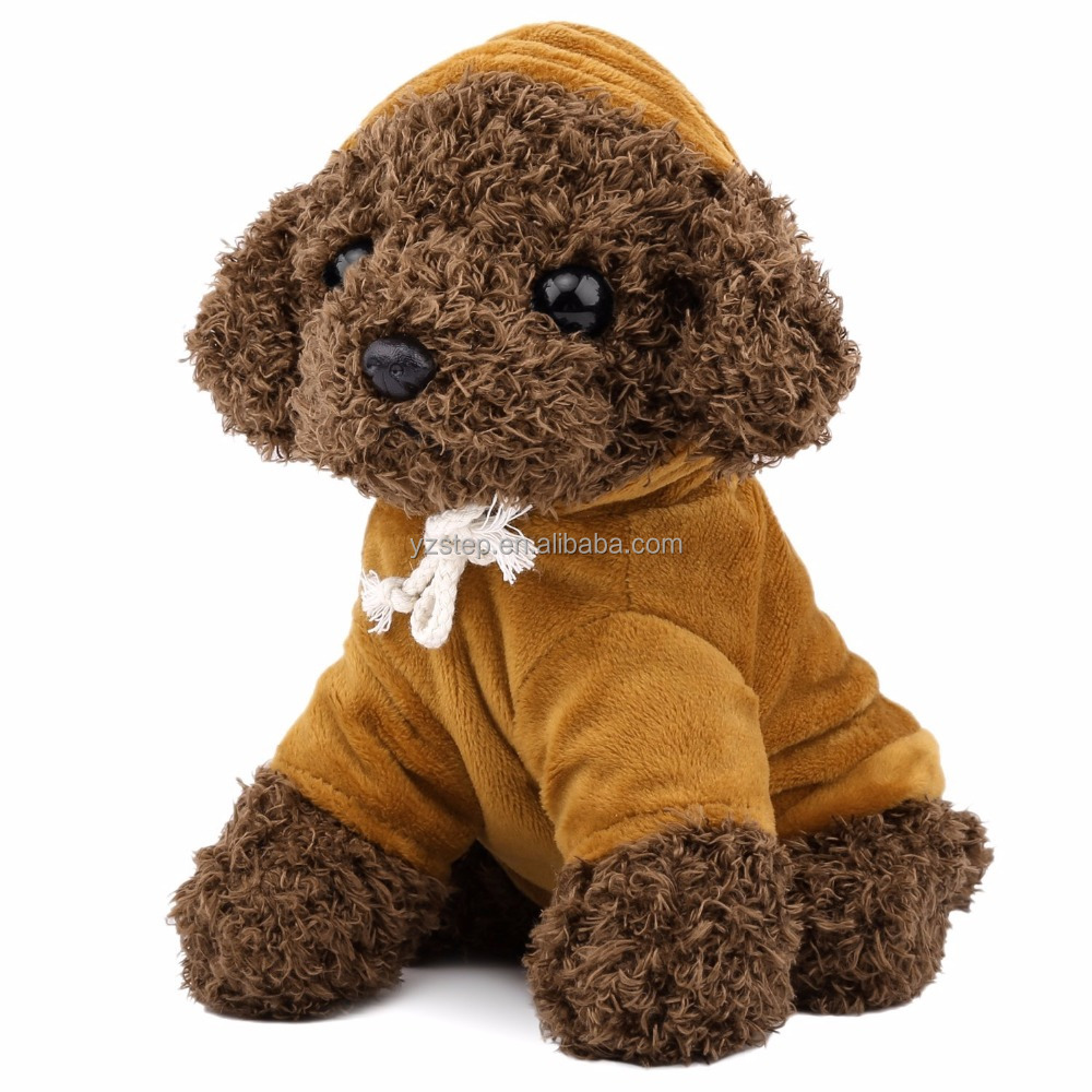 Stuffed Teddy Dog With Clothes Plush Dog Toy Puppy