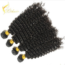100% human hair weave indian remy Kinky curl hair weave afro curl virgin hair