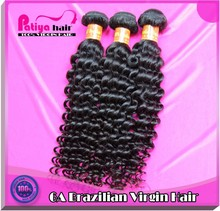 Full cuticle unprocessed grade 6a Virgin brazilian hair wavy human weave make in china curly hair extension